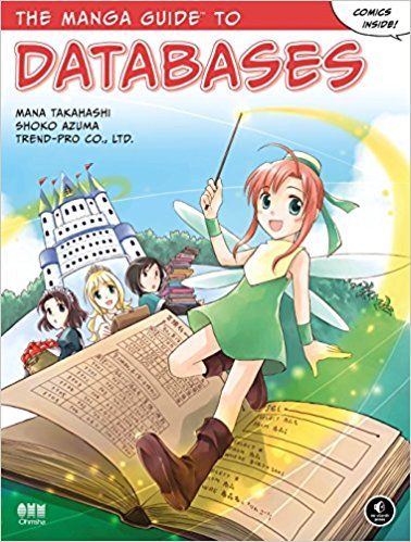 "Portada del libro ""The Manga Guide to Databases"" de Mana Takahashi"